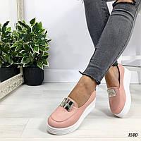 Туфли на платформе цвета пудры OSA
