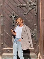 Женский удлиненный пиджак свободного кроя, в расцветках. АВ-4-0919
