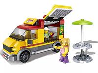 "Конструктор 6851(Аналог Lego City 60150) ""Фургон-пиццерия"" 243 детали"