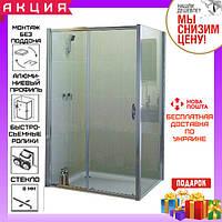 Прямоугольная душевая кабина 120x90 см Devit Aquanos FEN0593P стекло матовый