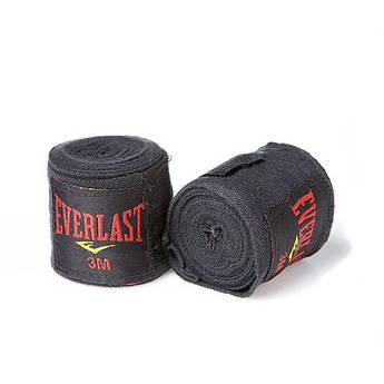 Бинт боксерский 3м, Everlast, пара, синий, красный, черный...