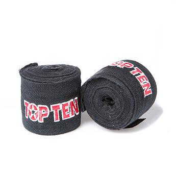 Бинт боксерский 3м, TopTen, пара, синий, красный, черный...