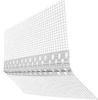 Универсальный уголок гибкий пластиковый пвх с сеткой фасадный в коробке 25 м.п. Вертекс (Чехия)