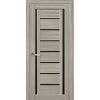 Дверь межкомнатная Флоренция С2 жемчуг magica 800 мм со стеклом BLK (черное).