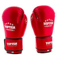 Боксерские перчатки TopTen, DX,  8oz красный..