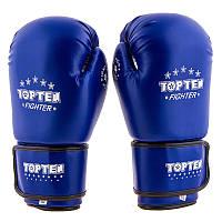 Боксерские перчатки TopTen, DX, 10oz синий..