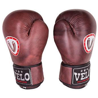 Боксерские перчатки Velo antique, кожа, 12oz..