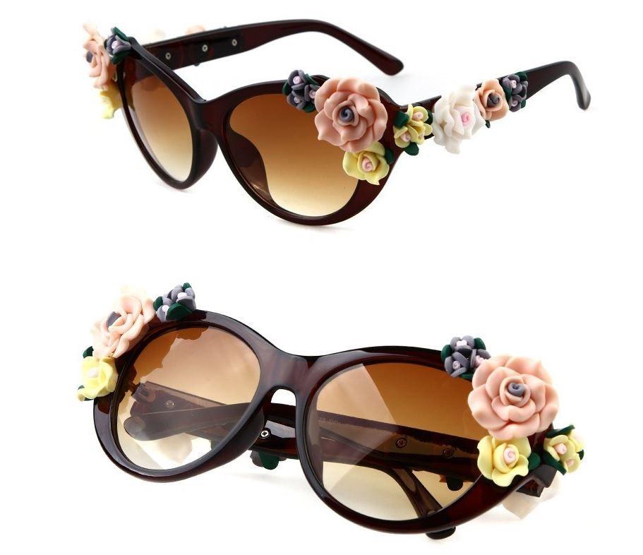 Очки солнцезащитные dolce gabbana с цветами