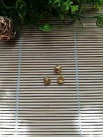 Бусина с узором, золото, 9 мм