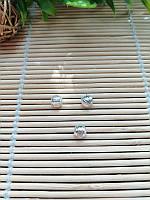 Бусина , серебро, 6 мм