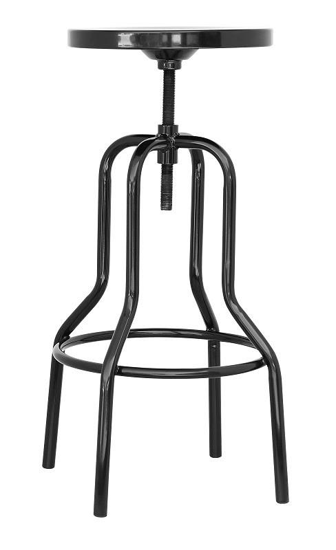 Барный табурет Танго в стиле лофт, черный металл от SDM Group
