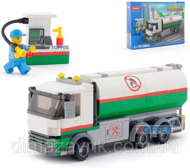 """Конструктор 6853(Аналог Lego City 60116) """"Бензовоз"""" 250 деталей"""