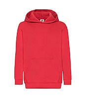 Детская толстовка с капюшоном утепленная красная 043-40