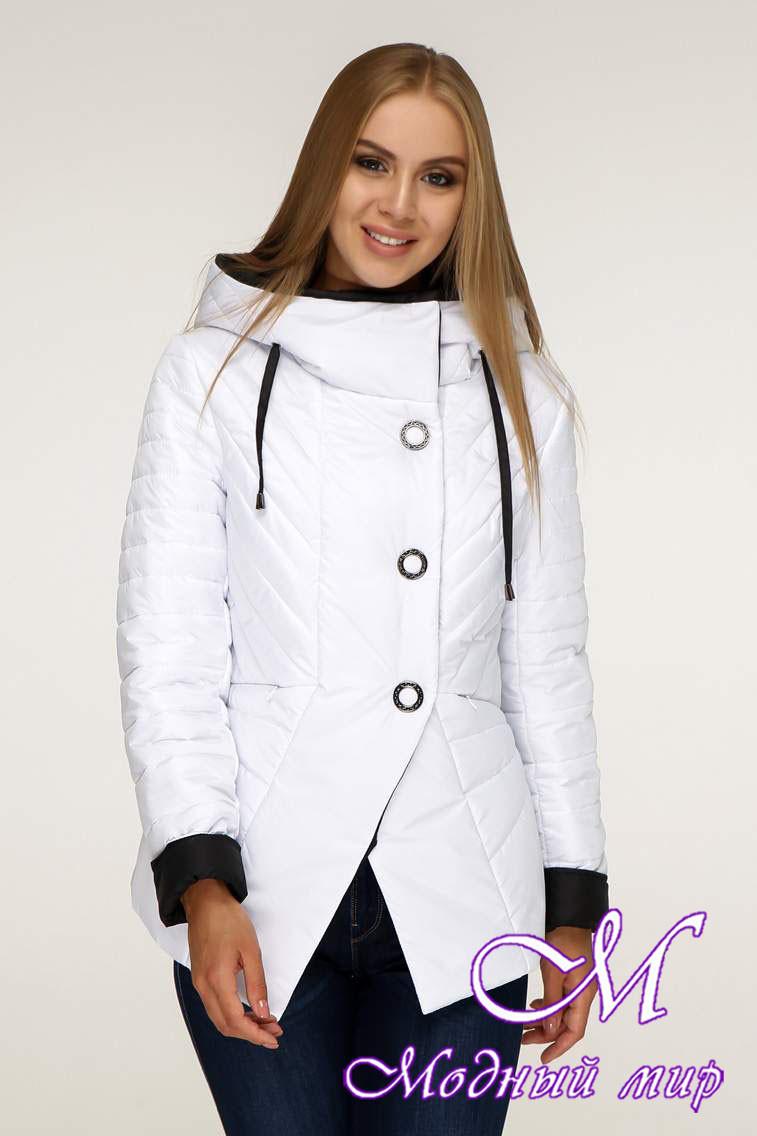 Стильная демисезонная куртка женская (р. 44-54) арт. 1196 Тон 10