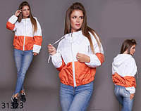 Осенняя куртка-ветровка с капюшоном на молнии р. 42, 44, 46