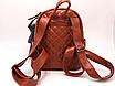 Рюкзак женский кожзам Стеганый Коричневый, фото 4