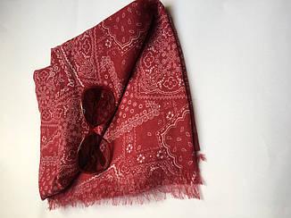 Шарф женский  весна-лето бордовый в орнамент C&A, фото 2