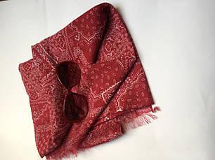 Шарф женский  весна-лето бордовый в орнамент C&A, фото 3