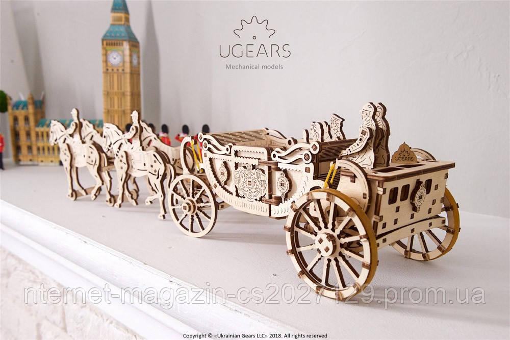 Конструктор-пазлы из дерева модель Королевская Карета