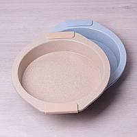 Форма для запекания Kamille KM-6034 28.5*26.5*3.8 см из углеродистой стали круглая