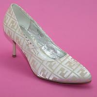 Свадебные бежевые туфли