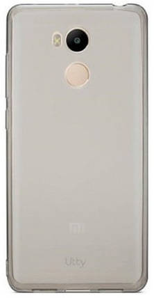 Utty Ultra Thin TPU силиконовая накладка для Xiaomi Redmi 4 Pro черная прозрачная, фото 2
