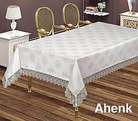 Скатерть  жаккардовая  прямоугольная  160х220  AHENK  Cappuccino, Турция, фото 1