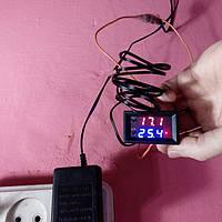 Термостат терморегулятор W1209 врезной питание  12 вольт