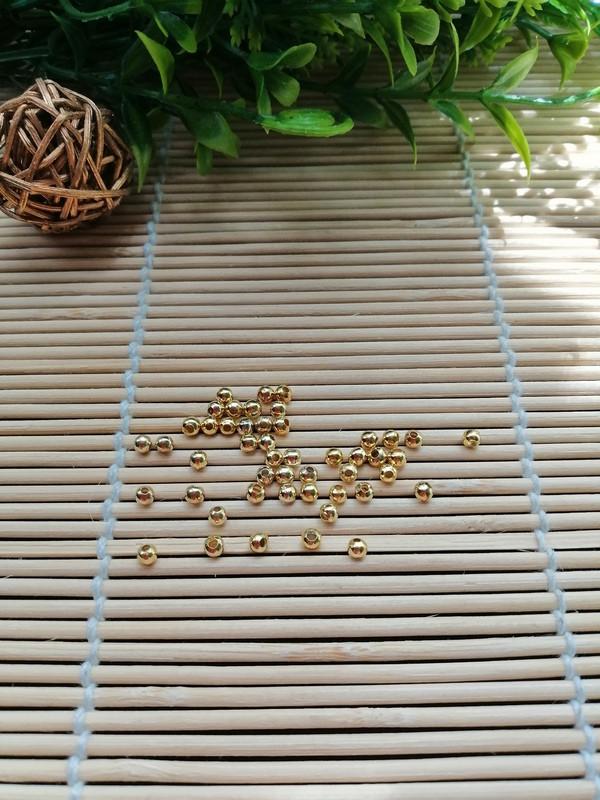 Бусина , золото, 3 мм