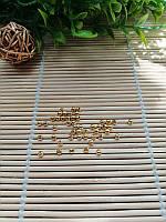 Бусина , золото, 3 мм, фото 1