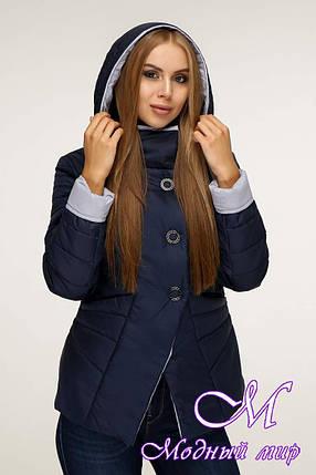 Женская стильная куртка демисезонная (р. 44-54) арт. 1196 Тон 19, фото 2