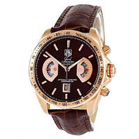 Годинник наручний Tag Heuer Grand Carrera Calibre 17 Quartz Brown-Gold-Brown