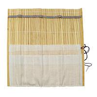 Пенал для кистей, бамбуковый,  натуральный цвет+ткань (33х33см), D.K.ART & CRAFT