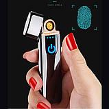 Электроимпульсная USB зажигалка SUNROZ TH-752 Black + Сумка через плечо Серая (n-346), фото 6