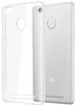STD 0,3 mm силиконовая накладка для Xiaomi Redmi 3S Сlear (тонкая, прозрачная), фото 2