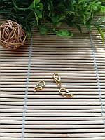 Застежка карабин, золото, 15 мм