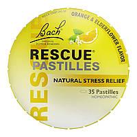Bach Rescue pastilles Пастилки Bach натуральное средство от стресса, 50г вкус апельсина и бузины