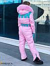 Подростковый зимний комбинезон горнолыжный с капюшоном и мехом 31gk35, фото 3