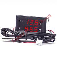 Цифровой термовольтметр с выносным датчиком -50...+125 °С, фото 1