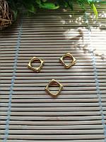 Разделитель для бусин, квадрат, золото