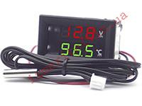 Цифровой термовольтметр с выносным датчиком -50...+125 °С
