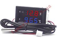 Встраиваемый цифровой термовольтметр с выносным датчиком -50...+125 °С