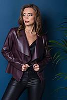 Куртка из эко-кожи  бордовая