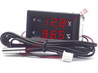 Автомобильный цифровой термовольтметр -50...+125 °С