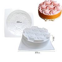 Форма для евродесертов торт Завиток, фото 1