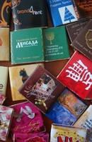 5г шоколадки в фирменном стиле компании