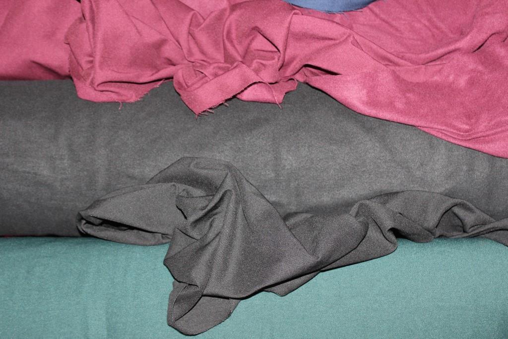 №308. Бенгалин, на Флисе, Черный. осень -растяжение по долевой! джинсовое плетение нити, фото 1