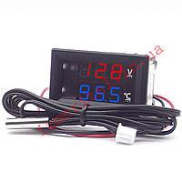 Автомобильный цифровой термовольтметр -50...+125 °С, фото 1