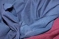 №308. Бенгалин, на Флисе, Темно синий. осень -растяжение по долевой! джинсовое плетение нити, фото 1