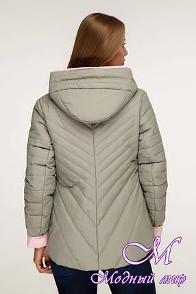 Женская модная куртка демисезонная (р. 44-54) арт. 1196 Тон 59, фото 2
